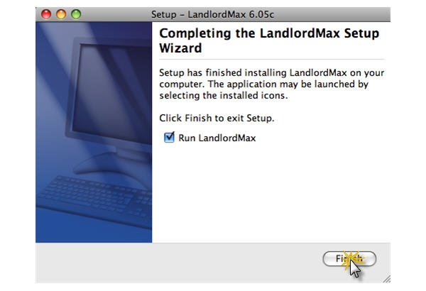LandlordMax Property Management Software:Install/Mac/Finish