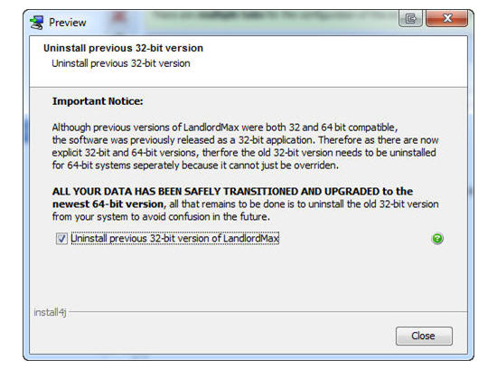 LandlordMax Property Management Software: Installer screenshot