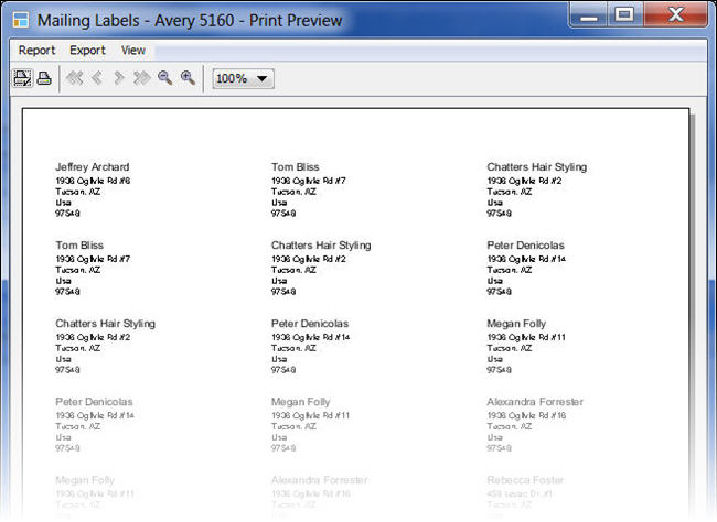 LandlordMax Property Management Software New Feature Screenshot: Mailing Labels Print