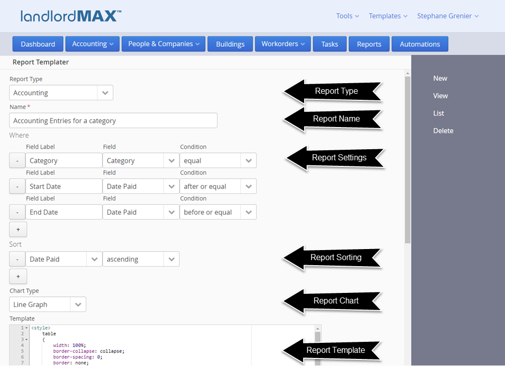 LandlordMax Property Rental Software - Cloud Edition Report Template Form