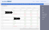 LandlordMax Property Management Software Screenshot: Accounting
