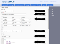 LandlordMax Property Management Software Screenshot: Custom Reports