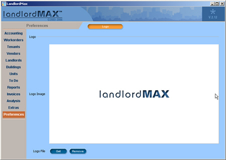 LandlordMax Property Management Software New Feature Screenshot: Logo