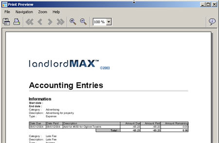 LandlordMax Property Management Software New Feature Screenshot: Logo Print