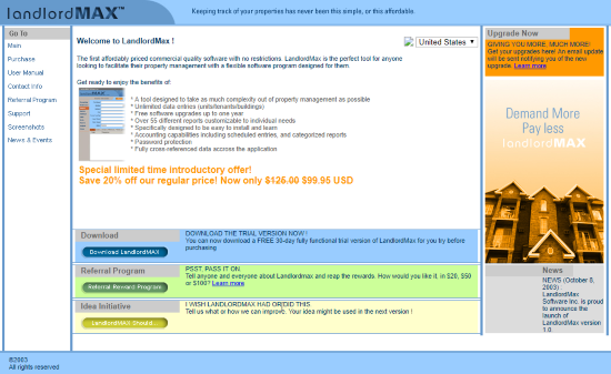 LandlordMax Property Management Software First Website