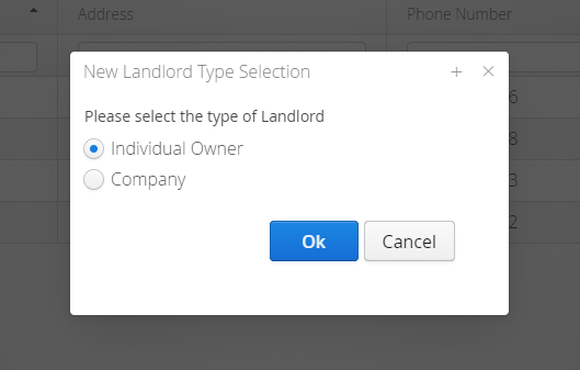 LandlordMax Property Management Software: Landlord Type