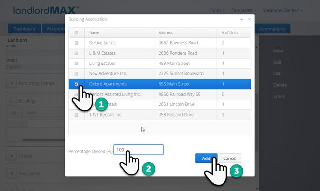 LandlordMax Property Management Software: Landlord Link Building