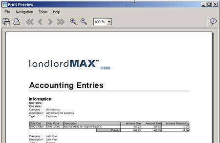 LandlordMax Property Management Software New Feature Screenshot: Logo Print