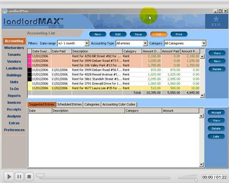 LandlordMax Property Management Software New Feature Screenshot: Print Comments