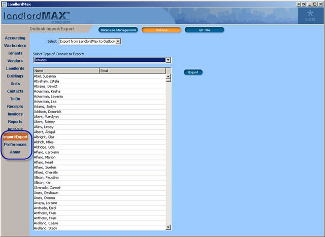 LandlordMax Property Management Software New Feature Screenshot: New Navigation Menus